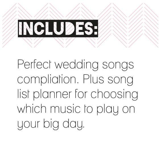 Wedding Songlist Printable Wedding Planning Instant Download Etsy