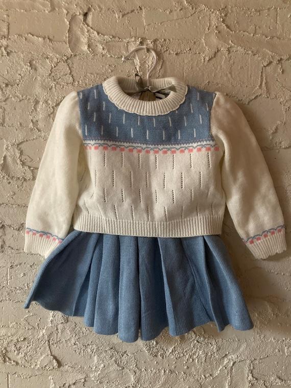 Retro two piece knit set