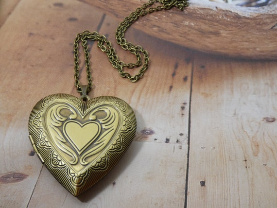 Locket Necklace The Perfect Mother Daughter Gift Brass Oval Picture Locket