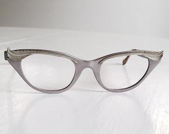ff25251adf Vintage Tura Fashion Eyewear Feather Motif Cat Eye Glasses --- Retro 1950 s  1960 s Women s Accessory Metal Frames --- Mid-Century Babe Style