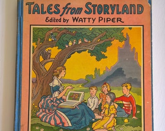 Tales from Storyland by Watty Piper --- Illustreated by George & Doris Hauman --- Vintage 1940's Children's Fairy Tale Story Picture Book