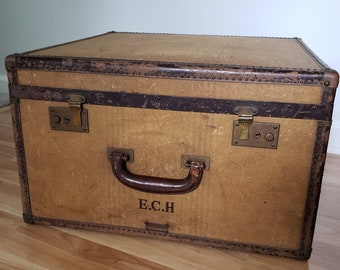 Vintage Pathfinder Imperial of Saks Fifth Avenue from Hartmann Trunk Co.  Travel Large Suitcase --- 1930 s Antique Style Home Decor Storage d369edcea8139