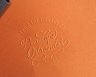Custom Library Embosser, Personalized Embosser, Embossing Seal, Library, Penelope