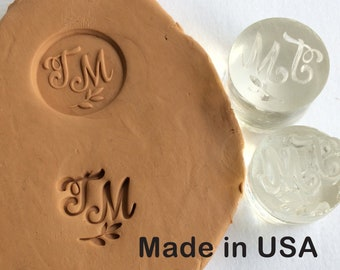 Custom Pottery Stamp Signature Personalized Clay Ceramic Or Candle