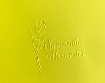 Stationery Embosser, Custom Library Embosser, Ex Libris Embosser, Personalized Embosser, Embossing Seal,  Samantha