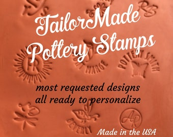 Pottery Signature Stamp, Personalized Clay Stamp, Ceramic Stamp, Custom Pottery Stamp