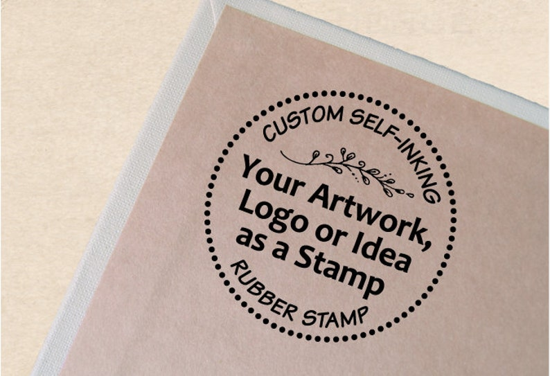 Custom Self-inking Stamp With Your Logo or Artwork. image 0