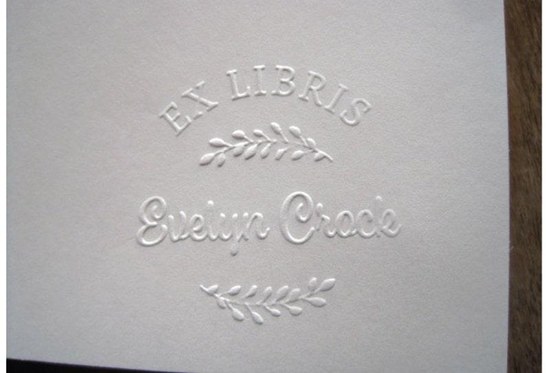 Ex Libris Embosser Custom Library Embosser Personalized image 0