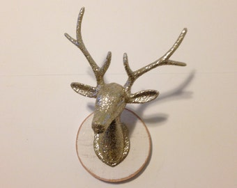 "Gold Sparkle Deer Head ""fauxidermy"""