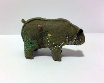 Cactus & Succulent Bear in green