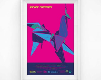 Retro Blade Runner Poster Art Paper Unicorn 80s Film Print Original Wall Decoration Design