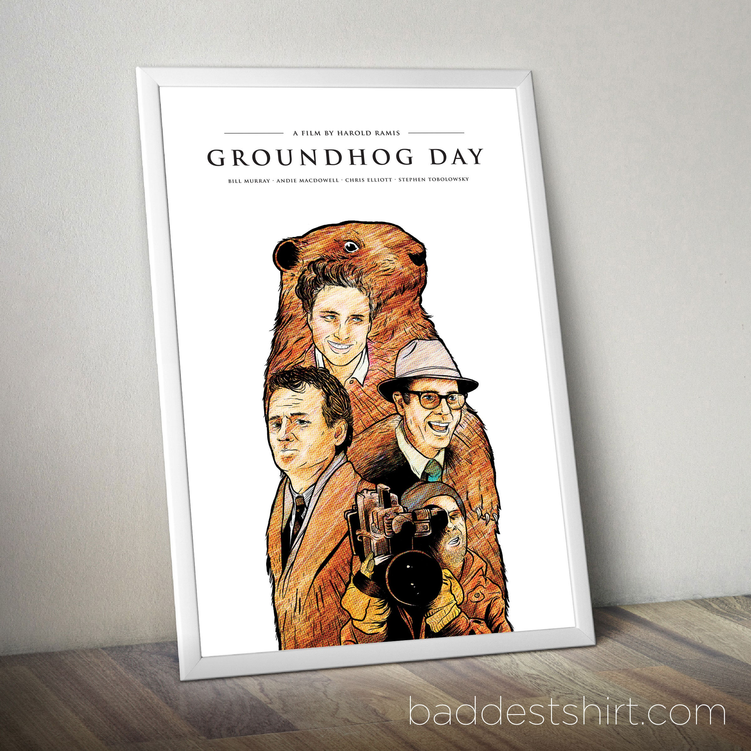 GROUNDHOG DAY Minimal Alternative Movie Poster