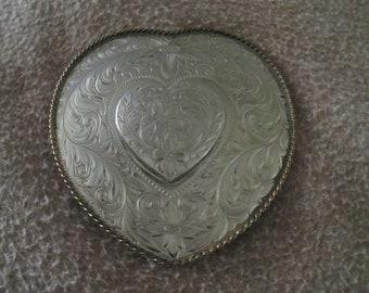 Cœur en coeur boucle (German Silver) par Montana orfèvre Co. de17af4d6e3