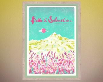 Belle and Sebastian - Green Man Festival 2016 - Silkscreen Gig Poster A2