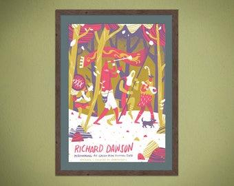 Richard Dawson - Green Man Festival 2017 - Silkscreen Gig Poster A2