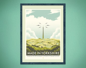 Made In Yorkshire - A2, 4 colour Silkscreen Print