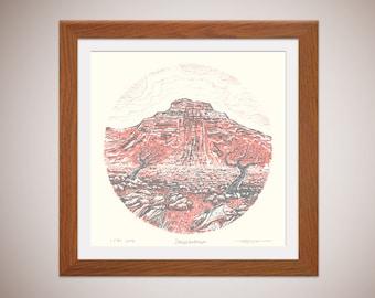 Ingleborough - Yorkshire Three Peaks - silkscreen print