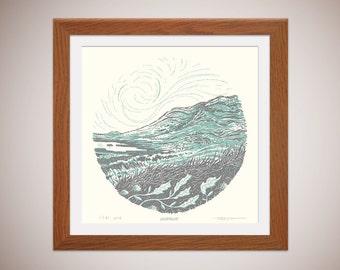 Whernside - Yorkshire Three Peaks - silkscreen print