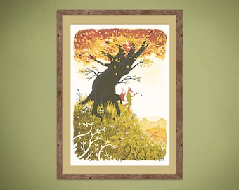 Fantastic Mr Fox - 3rd edition - 4 colour screenprint inspired by the classic Roald Dahl story