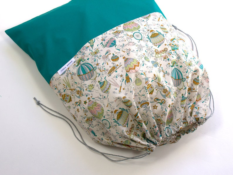 Travel Laundry Bag Travel Gift Drawstring Bag Sky High C Lingerie Bag Birthday gift for her Travel Accessories Liberty of London