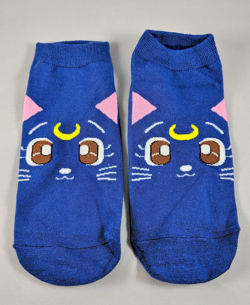 5636222dd63 Sailor Moon Luna Cat Inspired Socks