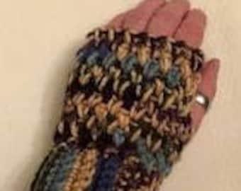 Fingerless gloves, texting gloves, gloves without fingers, crochet fingerless gloves, crochet texting gloves, multi colored gloves