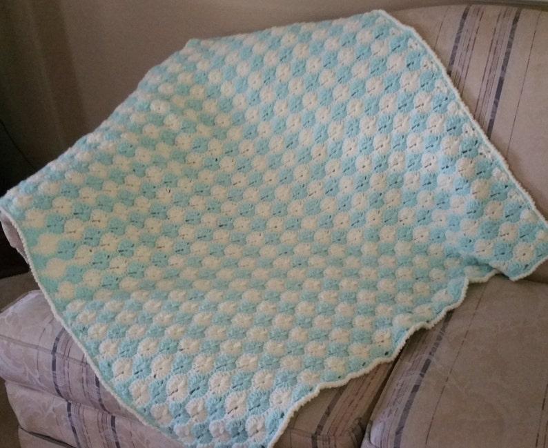 Crochet Baby Blanket Baby Boy Baby Girl Baby Shower Gift image 0