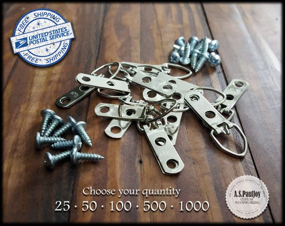 Picture Frame Hanger Bulk D Ring With Screws 2 Hole Mirror Etsy