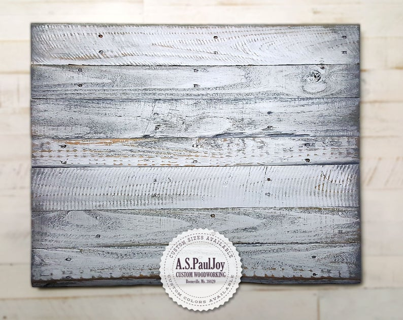 Pallet Wall Décor Reclaimed Wood Wall Artblank Painted Pallet Etsy