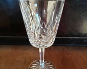 Waterford Lismore pattern crystal water goblet