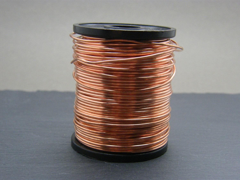Copper wire 1mm gauge bare copper wire Antique copper wire | Etsy