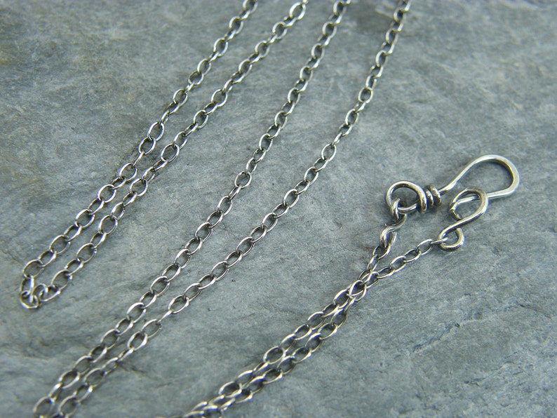 Sterling silver chain  Silver necklace  Sterling silver image 1