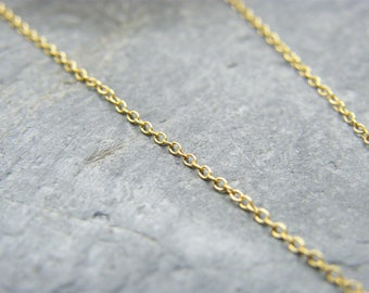 14ct yellow gold filled fine trace chain ~ Sold by the foot ~ Gold filled chain ~ Gold filled chain by the foot ~ Cable chain ~ Supplies ~