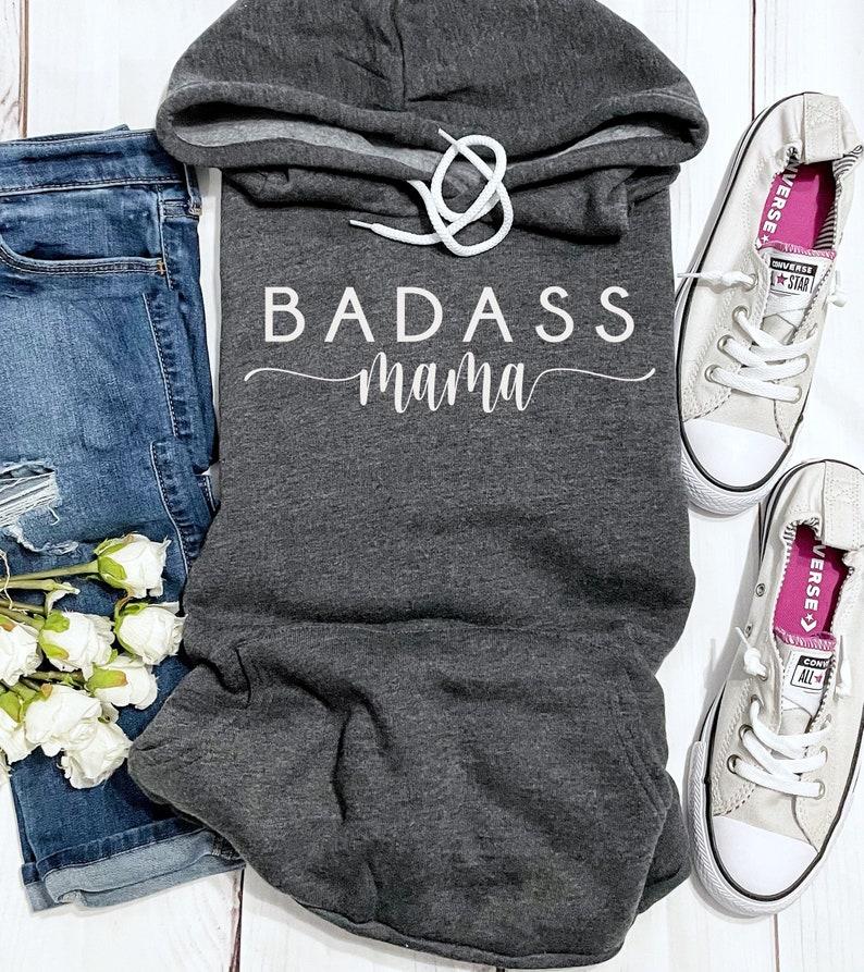 Mothers Sweater Badass Mama Sweater Sweatshirt Gift For Moms hoodies pullover gift