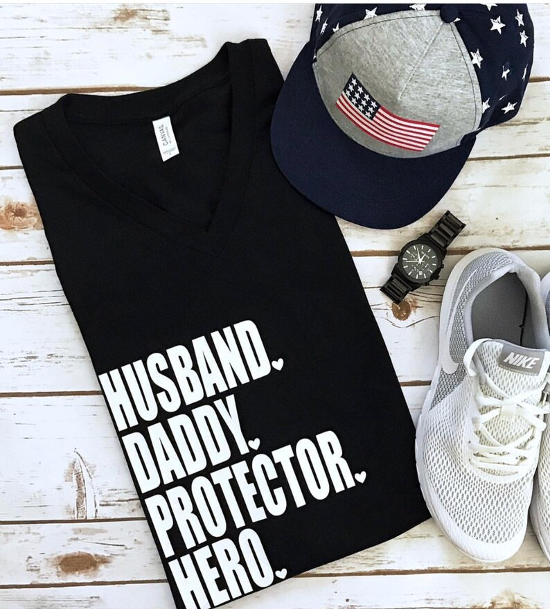 6a40f0fe Husband Daddy Hero Shirt Shirts For Dads | Etsy