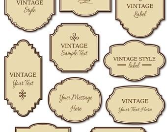 Elegant vector frame etsy clip art vintage labels pack digital frames diy cards invitation printable label tag elegant traditional instant download stopboris Choice Image