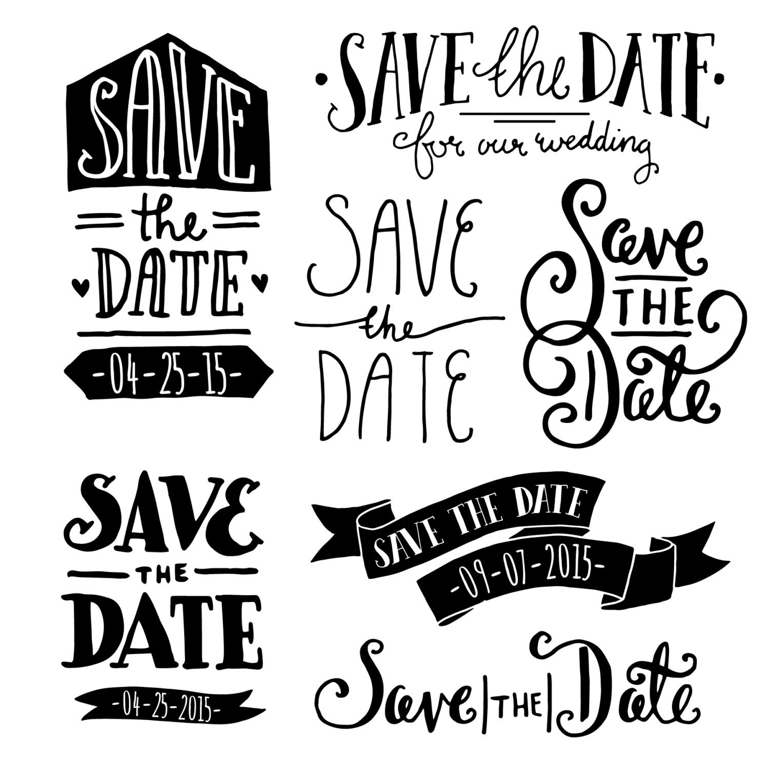 clip art save the date overlays 1 photoshop psd etsy