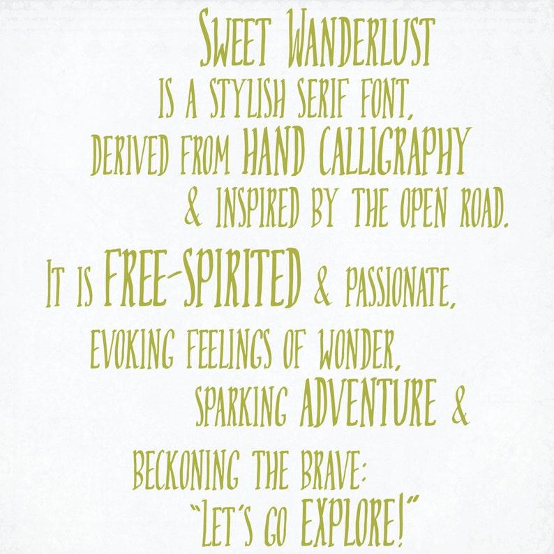 Digital Font Download Sweet Wanderlust Etsy