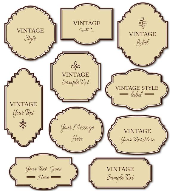 Digital Labels Vintage Digital Frames Clipart Commercial Use Tag Texture Label Clipart Printable Frames Vintage Purple Labels Printable