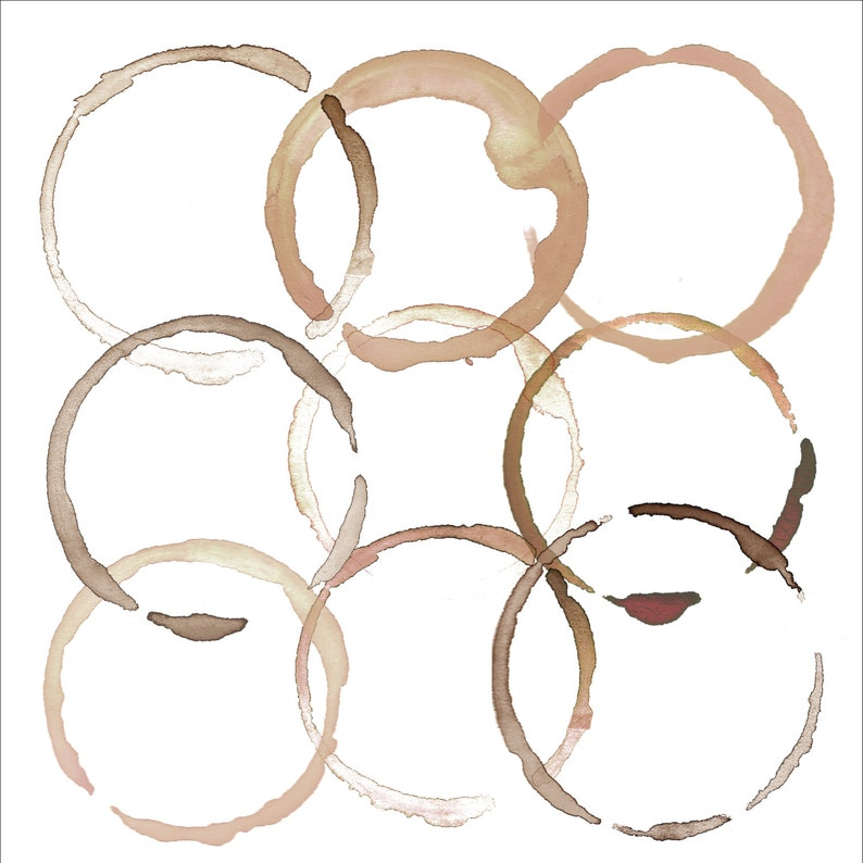 Watercolor Coffee Stain Clipart Digital Clipart Coffee ...