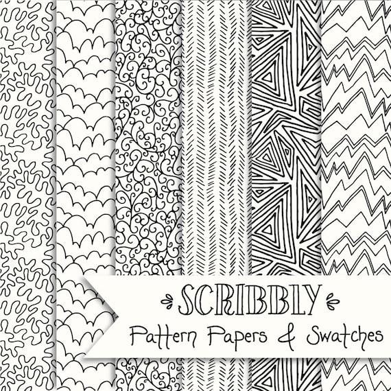 Sfondi Gratis Doodle Paper Pack Digital Seamless Pattern Etsy