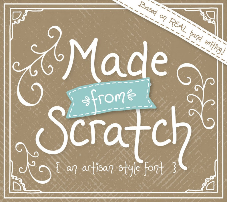 Font Download, Made from Scratch, Handwritten Font, Digital Fonts Design,  Fonts, Cute, Rustic, Hand Drawn, Instant Download, TTF, Font Files