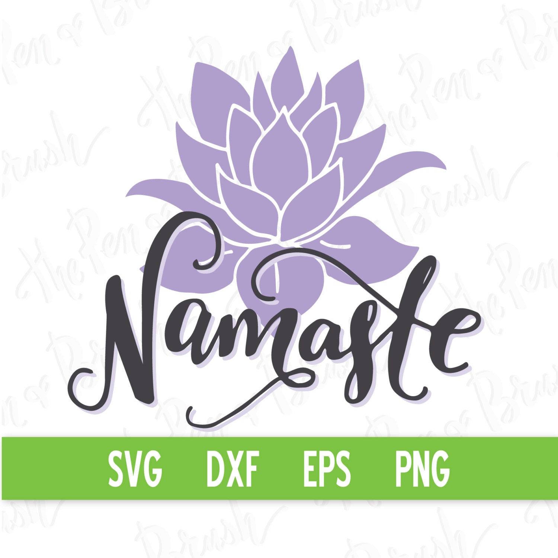 Svg cut file namaste lettering quote yoga yogi zen etsy svg cut file namaste lettering quote yoga yogi zen lotus flower dxf die silhouette cricut cutting machine commercial use izmirmasajfo
