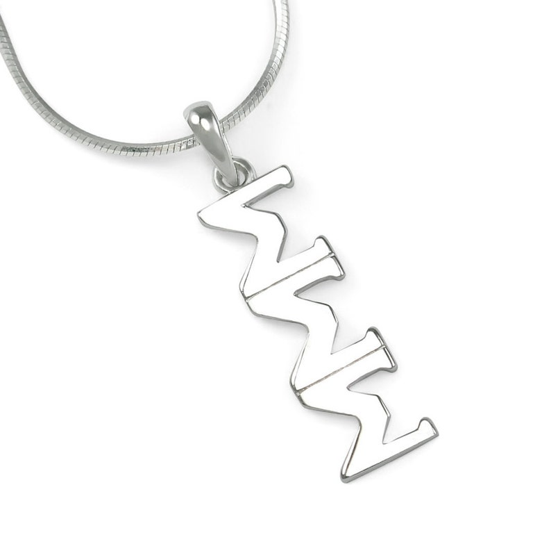 Sigma Sigma Sigma Sterling Silver Lavaliere  \u03a3\u03a3\u03a3 Sorority Jewelry  Sorority Gifts  Gifts for her  Greek life  Sorority Necklace