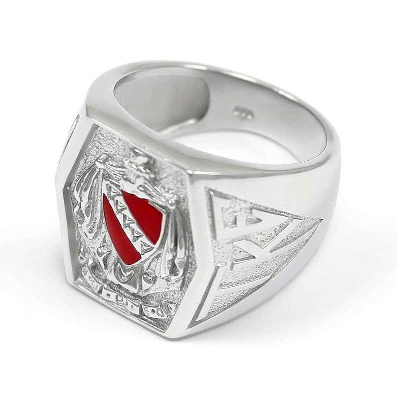 Tau Kappa Epsilon Fraternity Crest Ring with Red Enamel  Fraternity Rings  Fraternal /& Class Rings  Fraternity Gifts  Gifts for Him