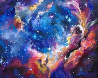 galaxy painting etsy