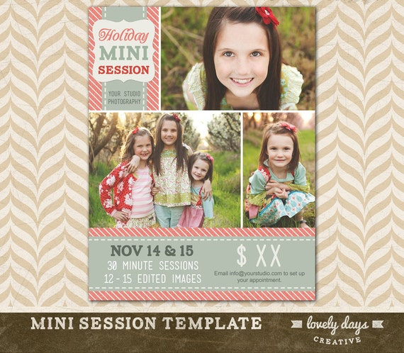 Christmas Mini Session Template Holiday Blog Board For