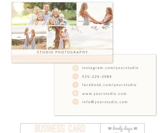 Photography Business Card Template INSTANT DOWNLOAD