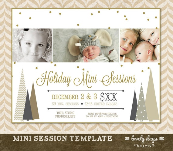 Christmas Mini Session Template Marketing Board For