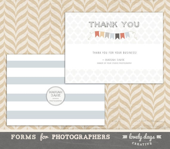 Photographer Thank You Card Template Instant Download Etsy